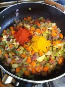 Riso pilaf con curry di verdure